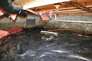 Crawl Space Repair Before in Saanich