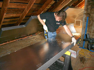 Rigid Foam Insulation from Island Basement Systems