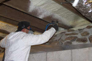 Spray Foam in the crawl space in Victoria
