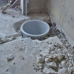 Placing a sump pit in a Sidney home