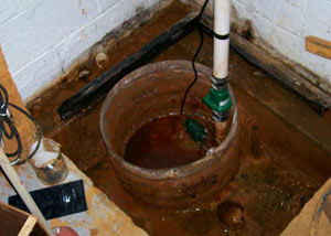 Extreme clogging and rust in a Comox sump pump system
