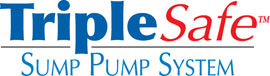 Sump pump system logo for our TripleSafe™, available in areas like Cobble Hill