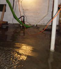 Several feet of floodwaters in a Gabriola basement