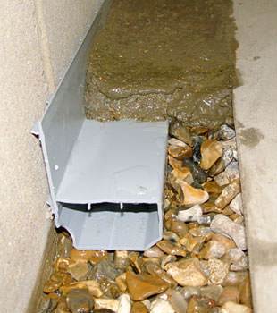 A basement drain system installed in a Courtenay home